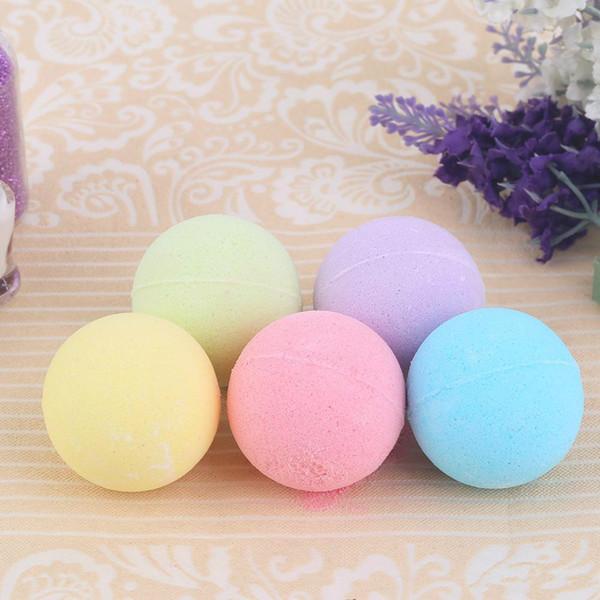 40g Random Color! Natural Bubble Bath Bombs Ball Essential Oil Handmade SPA Bath Salts Ball Fizzy Christmas Gift