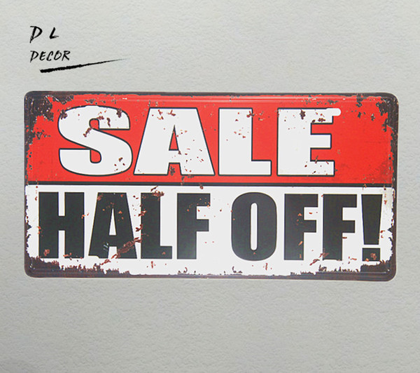 DL-SALE HALF OFF! License plate Metal signs vintage Retro Shabby chic poster home decoration accessories