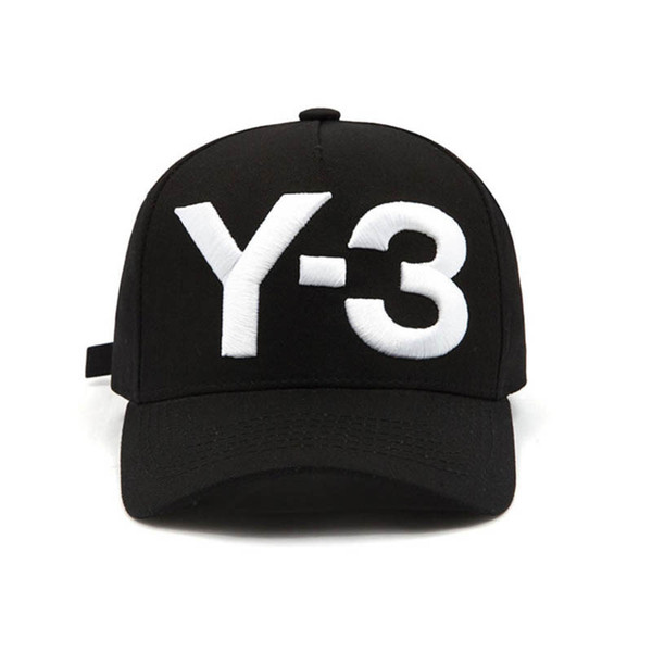 Fashion Y-3 Pure Cotton Peaked hip hop Baseball Caps Embroidered Letter Adjustable men women Casual Snapbacks Sport visor gorras hats