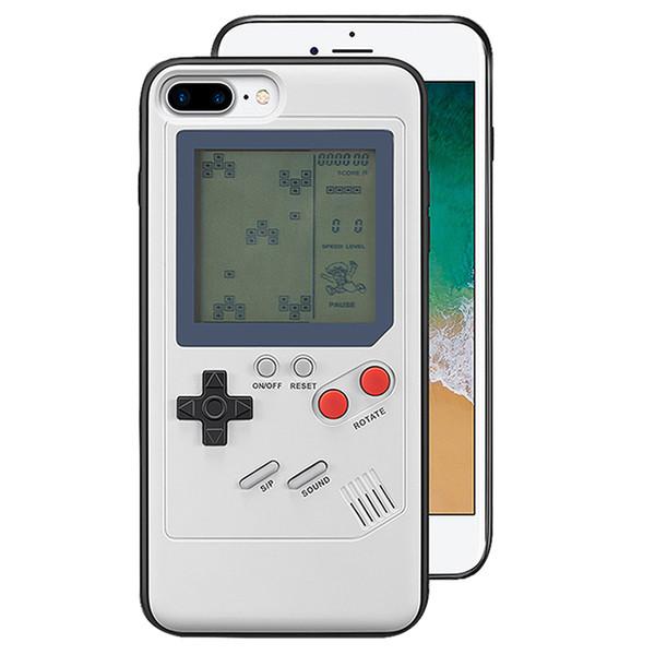 La novedad de la caja del teléfono móvil Shell Tetris Classic consola de juegos portátil cubierta de la caja para iPhone 6 / 6s plus 7 / 8plus juego regalo juego