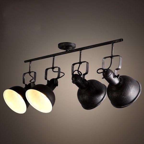1/2/3/4heads air E27 ceiling lamp creative retro clothing shop coffee bar aisle iron ceiling lighting black lamps ZA9114