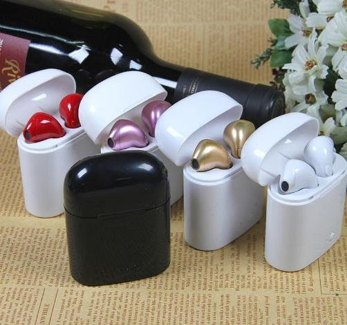 i7 i7S TWS Twins Mini Bluetooth Earphone Wireless Headphone With Charger Dock Earbuds V4.2 Stereo Headset For iPhone Xs Max 8 7 Plus Android