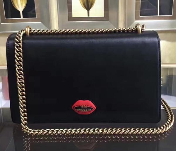 Red Heart Shape Decorate Handbag, Famous Designer Brand Genuine Leather Shoulder Bag With Vintage Gold Hardware Top Quality Cowhide 338