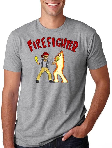 Funny Firefighter Tee Shirt Fire Fighter Gift for Firefighter Tee colour jurney Print free shipping t-shirt