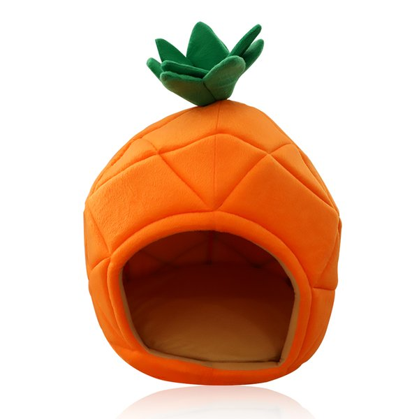 Cute Pineapple Kennel Cat Bed Pet Nest Pet Room Dog Kennel High-end Cat Litter Cat House to Keep Warm&Soft to your baby suprise
