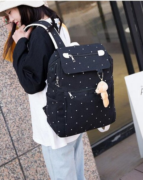 Dc MeiLun Embroidered canvas women cute backpack backpacks school bags for teenagers women travel girl book bag backpack B-0712