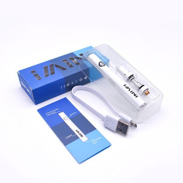 Colorido Original imini E-smart Max Vaporizador Pen 380mah batería Electronic Cigarettes kit de inicio con 510 Atomizer .5ml Cartuchos de vidrio