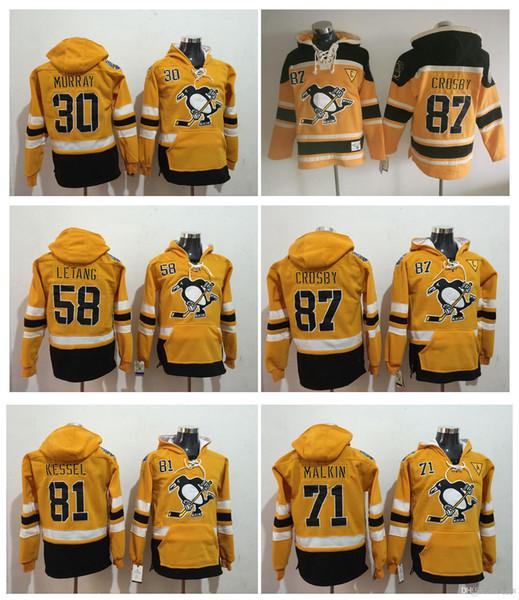 2017 Estádio Série Pittsburgh Penguins Pulôver 87 Sidney Crosby 71 Evgeni Malkin Kris Letão Matt Murray Phil Kessel Hóquei Moletom Com Capuz Jerseys