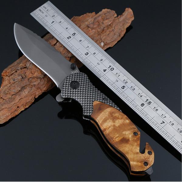 Cuchillo de bolsillo plegable táctico abierto de la alta resistencia de la primavera, borde fino, acero inoxidable, cuchillo para táctico, el acampar, cazando, EDC