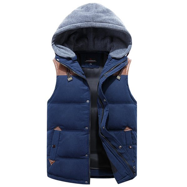 100% Real White Duck Down Vest For Men Winter Autumn Male Casual Warm Thick Parka Outerwear Sleeveless Jacket Mens Waistcoat L18101102