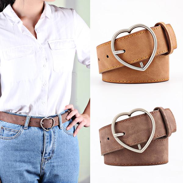 mejor baratas daab9 2f9b9 Compre Nuevo Diseñador De Moda Para Mujer Love Casual Ladies Cinturones  Para Jeans Modelins Para Mujer Vestido De Cuero Correa De La Venta Caliente  A ...