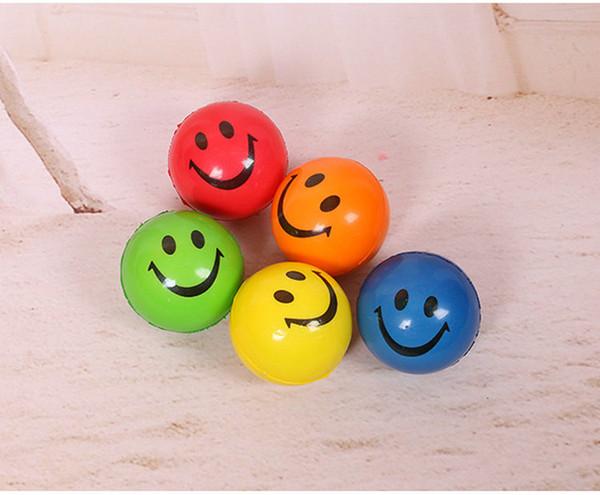 6.3cm QQ Emoji Smiling face ball Stress Squeeze Ball Wrist Finger Training Balls Soft Sponge PU Ball Children Kids Toys 12pcs