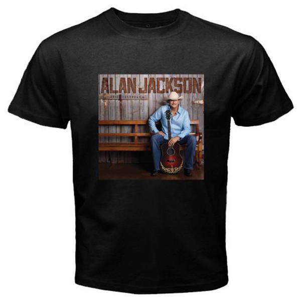 New Alan Jackson Ainda Keepin It Country Tour Preto dos homens T-shirt Tamanho S-3xl O Pescoço Camisa Plus Size T-shirt