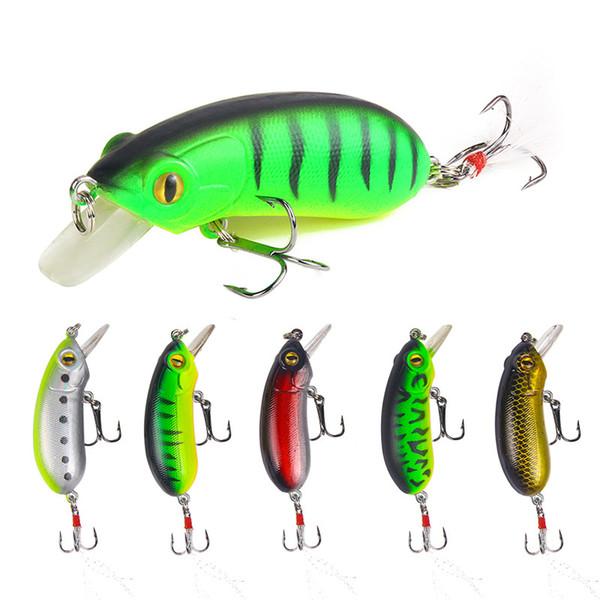 Leurre de pêche 5 couleurs attachant crochet artificiel appât bionique 10,5 g / 6,5 cm appâts pour poissons leurre Minnow dur leurre de pêche