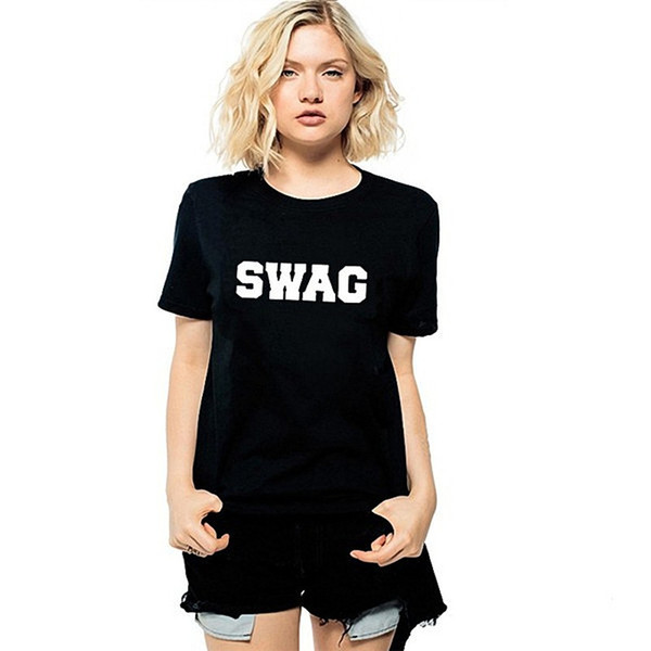 Swag T Shirt Swagger Hip Hop Short Sleeve Gown Free Words Tees Leisure  Printing Clothing Quality Unisex Cotton Tshirt Tee Designs Neck T Shirts  From