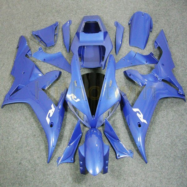 Bolts+Custom blue ABS Plastic motorcycle article body kit for Yamaha YZF-R1 2002-2003 YZFR1 02-03 Fairing