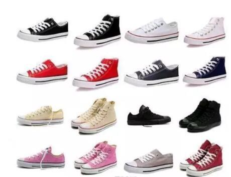 2018 Factory price femininas canvas shoes women and men high Low Style Classic Canvas Shoes Sneakers Canvas Shoe big size35-46 Drop ship