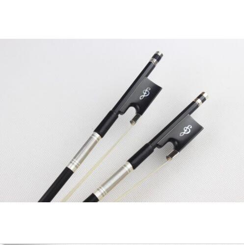 2pcs New Professional black Carbon fiber violin bows 4/4 Ebony Frog
