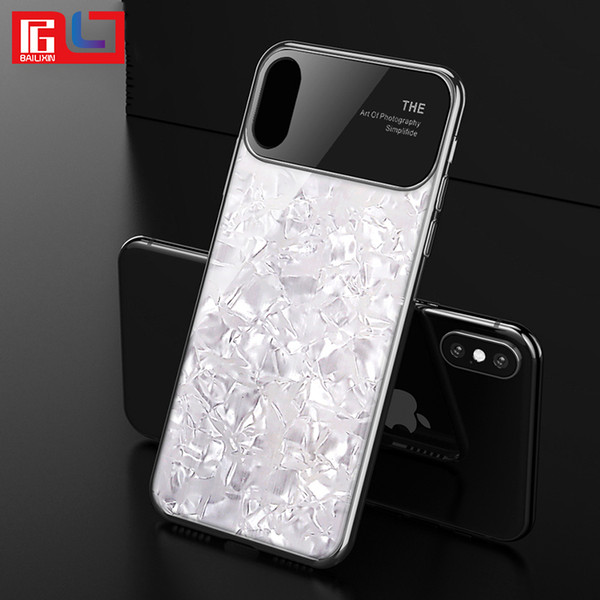 Luxury Shiny Phone Case Electroplated hard shell Case Cover for iphone 6s p 7 8plus X