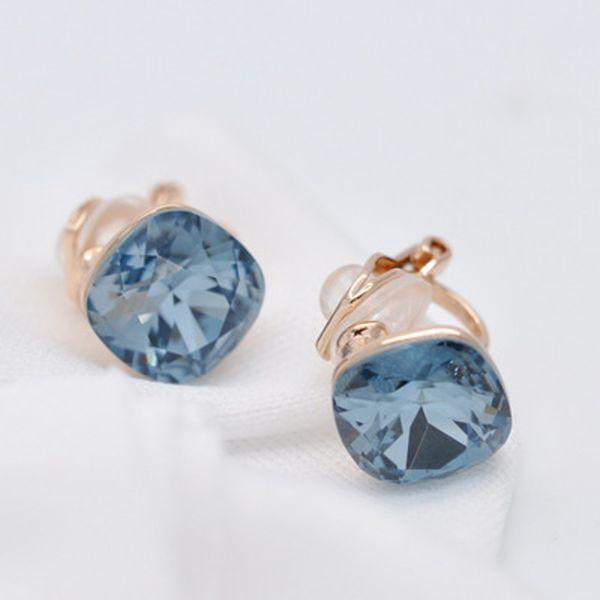 Clip Boucles D/'oreilles Non Piercing Inox Bijoux Femmes Mode cristal d/'oreille diamant
