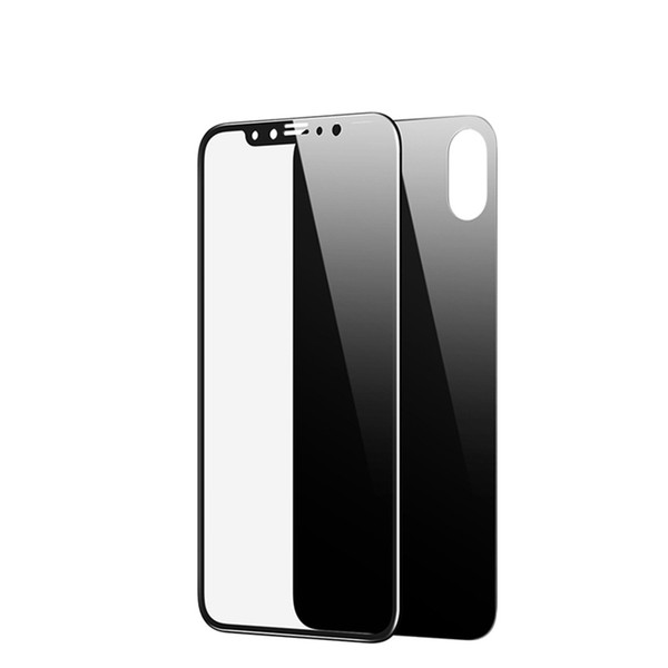 For iPhone X XS MAX XR 8 8 Plus Clear Tempered Glass New 5D Screen Protector 9H Clear Back and Front