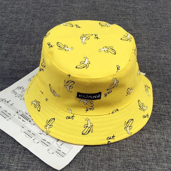 Bucket cap Homem Mulheres Unisex algodão Banana Chapéu Bob Caps Hip Hop legal esportes ao ar livre Senhoras de Verão Praia Sol Balde de Pesca Chapéus