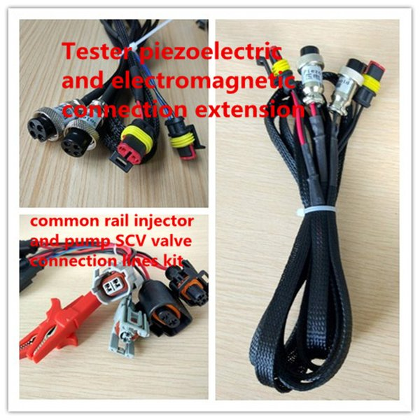 Diesel common rail injector and pump SCV valve connection lines &Tester Electromagnetic Piezoelectric injector cable Extension cord kit