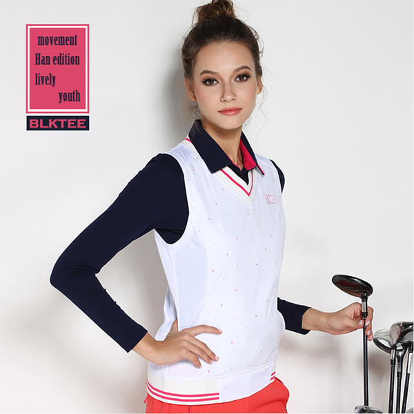 best selling New arrival women's golf vest shirt Women autumn and winter sports windproof shirt sleeveless lady jacket tops white outdoor