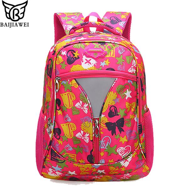 vendita all'ingrosso 2018 nuovi bambini sacchetti di scuola per ragazzi ragazze nylon decompressione zaino grado 3-9 studenti zaino graffiti