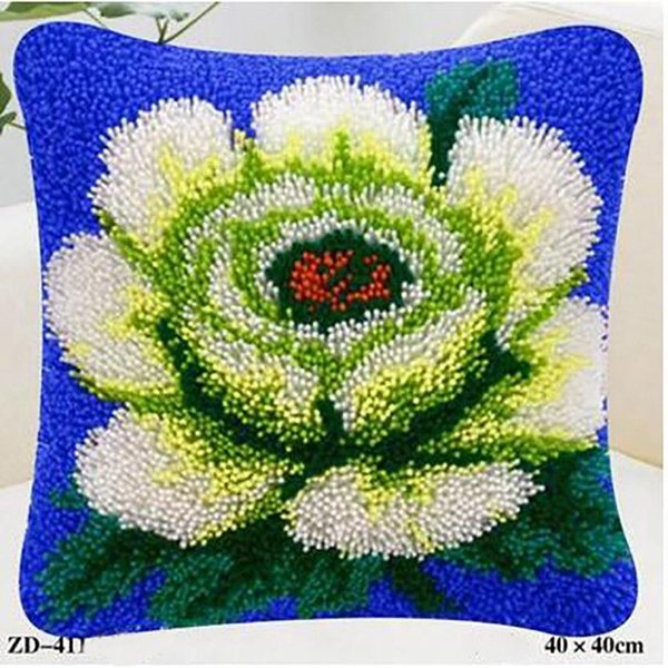 Flowers And Plants Patterns Pillowcase Cushion Cover Woolen Square Design For Home Sofa Decoration Wedding Valentine'S Gifts