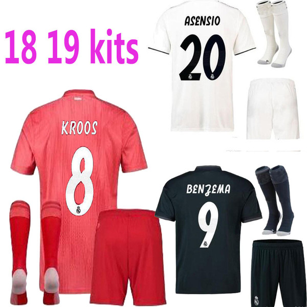 new style 376de c5c9f 2019 2018 REAL 2019 REALS MADRID ADULT SHORT KIT+SOCKS Ronaldo TOP QUALITY  JERSEY 18 19 HOME WHITE AWAY PURPLE 3RD BLACK SHIRT From Laule9977, $17.73  ...