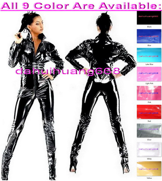 Sexy 9 Color PVC Bodysuit Costumes Sexy Shiny PVC Suit Catsuit Costumes Unisex Sexy Body Suit leotard Costumes No Head/Hand/Foot DH193
