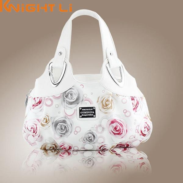 2017 hot fashion korean handtasche schöne frauen pu-leder tasche einkaufstasche druck handtaschen viele stil satchel drop großhandel mm5