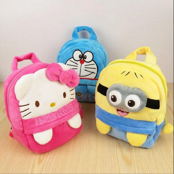 2017 cartoon children's furry backpack spider man mini bag, Hello Kitty backpack rugtas jongen children's school bag girl's bag