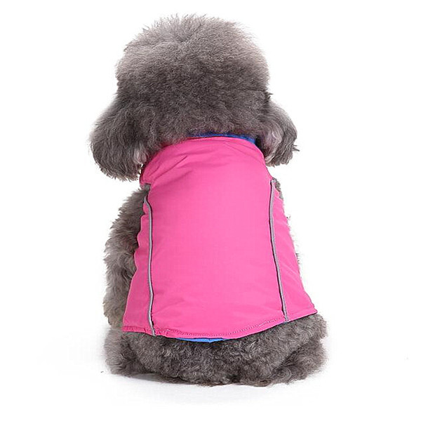 Both sides can wear dog clothes winter pet clothing casual cute jacket explosion section winter pet clothing cotton