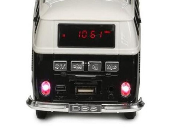 Mini Portable Bus Toy Stereo Speaker Support TF Card USB MP3 Player With External Battery Subwoofer Speakers