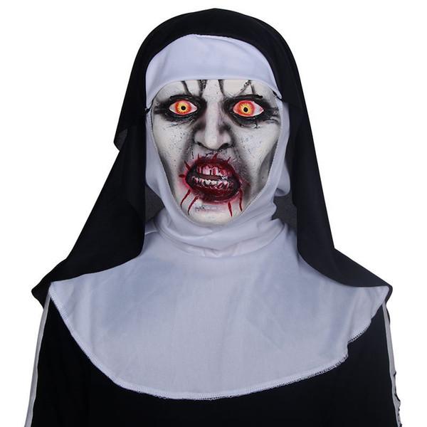 Satin Al Nun Korku Maskesi Cosplay Valak Korkunc Lateks Maskeleri