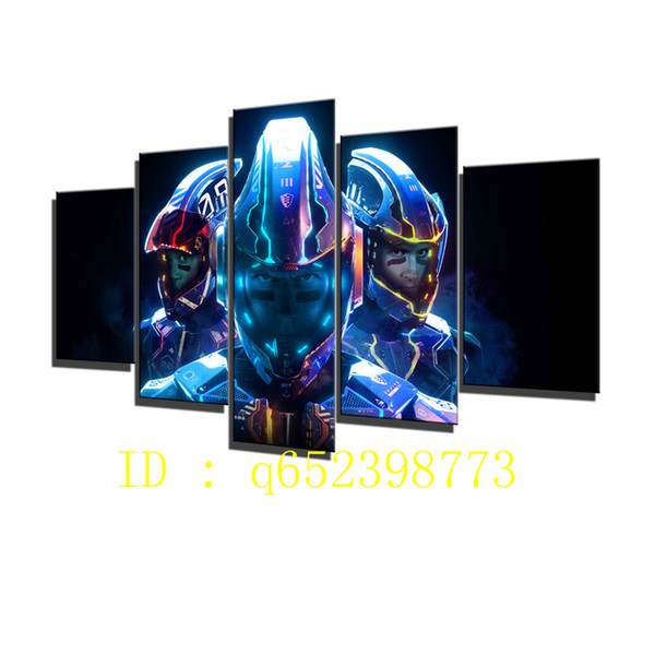 Laser League 2017 5 Pieces HD Canvas Printing New Home Decoration Art Painting/ Unframed / Framed