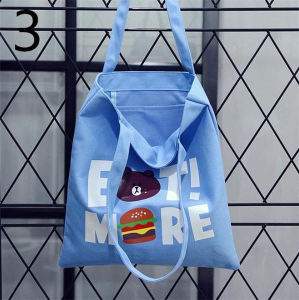 Versão coreana da moda casual japonês bolsas de lona bolsa de ombro bolsa de estudante bolsas de lona casuais