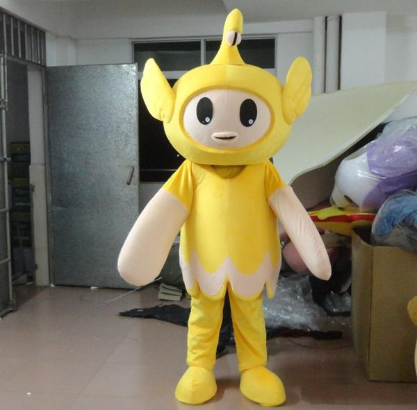 Adult Size Angle Mascot Costume Yellow Angle Costume Christmas Birthday Party Fancy Dress Free Shipping