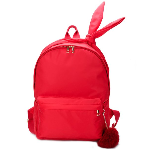 Dropshipping PU Leather Backpack With Hair Ball Women Travel Backpacks School Bags For Girls Mini Backpack Femininas