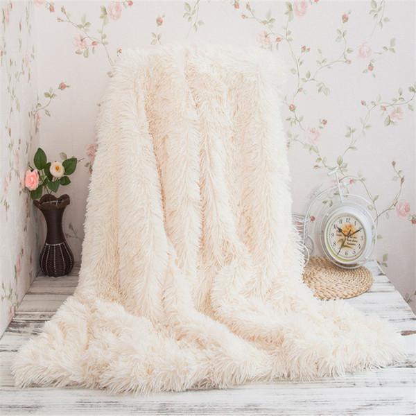 160*200cm Blankets Crystal velvet Super Soft Long Shaggy Fuzzy Fur Faux Fur Warm Elegant Cozy With Fluffy Beding Throw Blanket