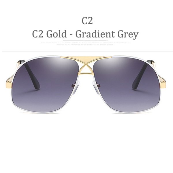 C2 Glossy Gold Frame Gradient Gray