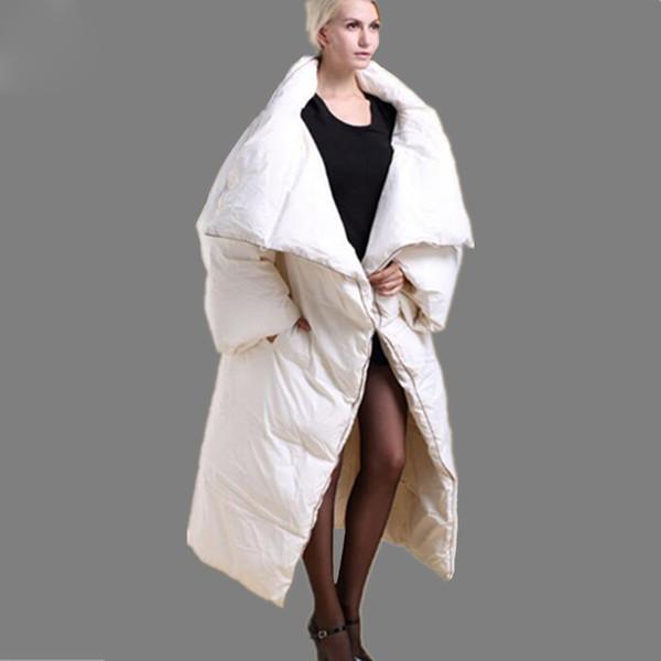 Winterkleidung Daunenmantel Verdickung Thermische Mantel Daunenjacke Großhandel Wintermantel Frauen Von Lange Persönlichkeit Weiß Steppdecke Schwarz QrdtCsh