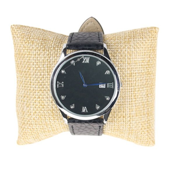 Linen Bracelet Bangle Watch Pillow Holder For Jewelry Watches Display Case Box Velvet & Cotton Jewelry Packaging & Display