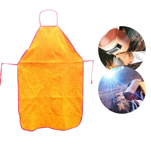 Bib Apron Weld Whole Split Cowhide Flame-Resistant Leather Welding Apron for Great for BBQ 660327