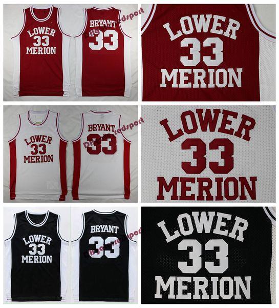 best service 18847 198ad 2019 Mens Lower Merion Kobe Bryant High School Jerseys Basketball Shirts  Cheap #33 Kobe Bryant Stitched Basketball Shirts College Black Red S XXL  From ...