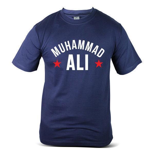 3343-NV Muhammad Ali Moda Divertido Desobedecer Boxeo raro Azul marino Hombres camiseta