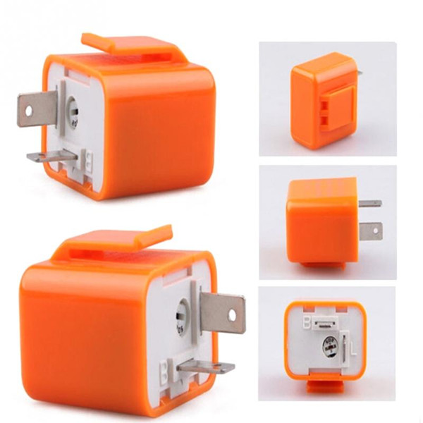2X High quality 2-Pin Speed Adjustable LED SMD Flasher Relay Fix Motorcycle Turn Signal Hyper waterproof Relay Automatic protection