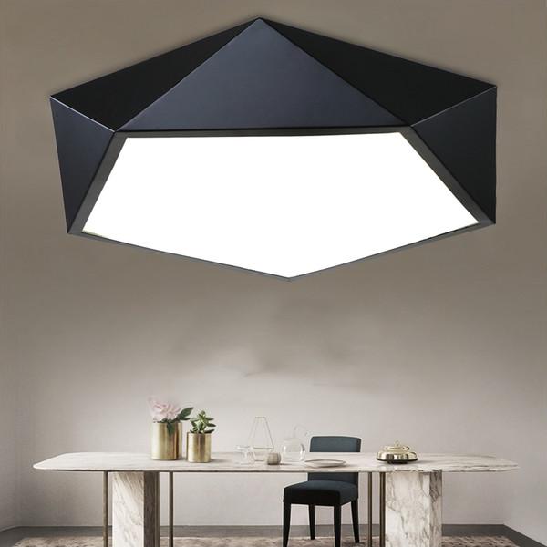 Moderno LED Bianco Nero Plafoniera Lampadario Acrilico Lampada a Batteria Luce Nuova Sospensione Illuminazione d'interni home art illuminazione E095